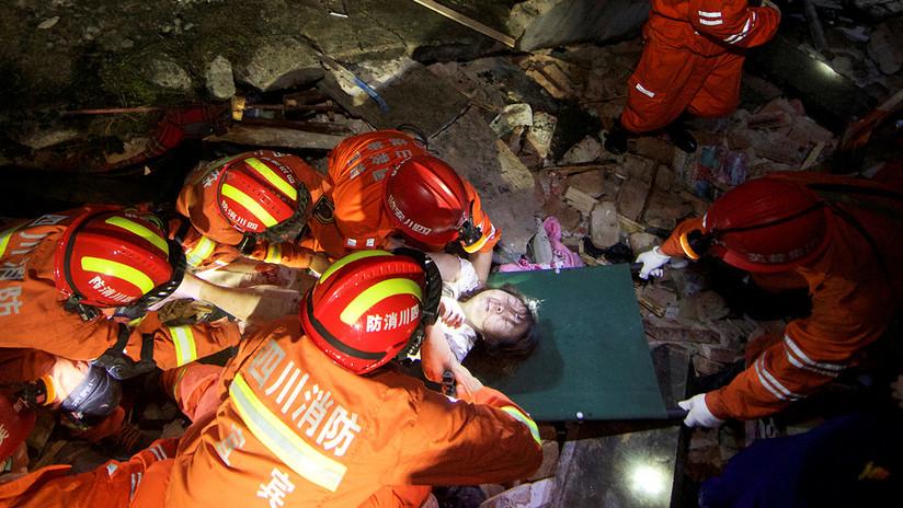 Imágenes de las destructivas consecuencias de los fuertes sismos que sacudieron China