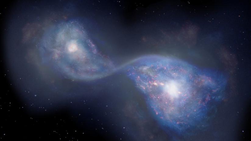 Descubren las dos galaxias en fusión más lejanas y más antiguas jamás observadas