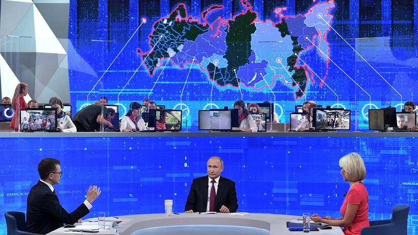 Putin aborda Huawei, Trump, sanciones y otros temas durante la 'Línea directa' con sus conciudadanos