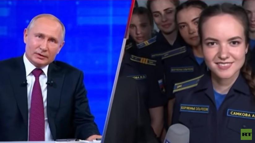 VIDEO: Una estudiante de aviación pregunta a Putin si las mujeres podrán pilotar cazas o aviones de asalto en Rusia y esta es su respuesta