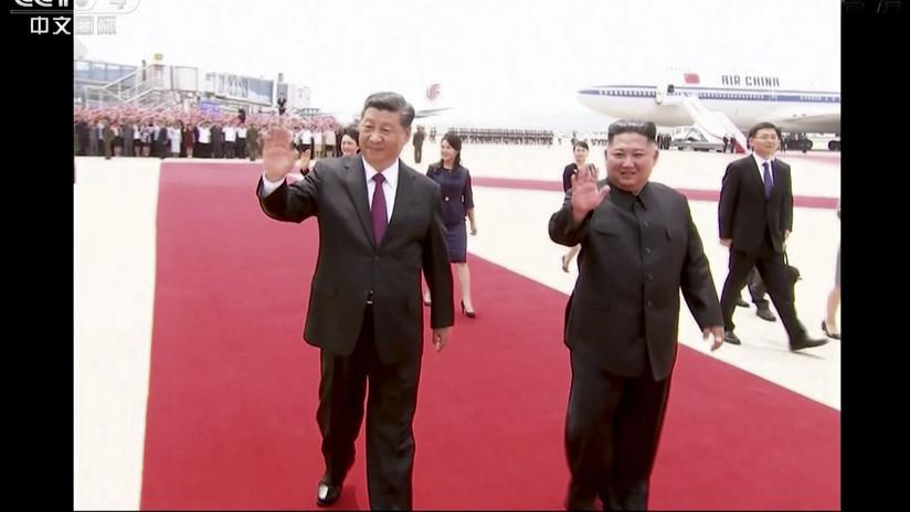 FOTOS, VIDEO: Arranca la cumbre entre Xi Jinping y Kim Jong-un, en el marco de la histórica visita del presidente chino a Pionyang