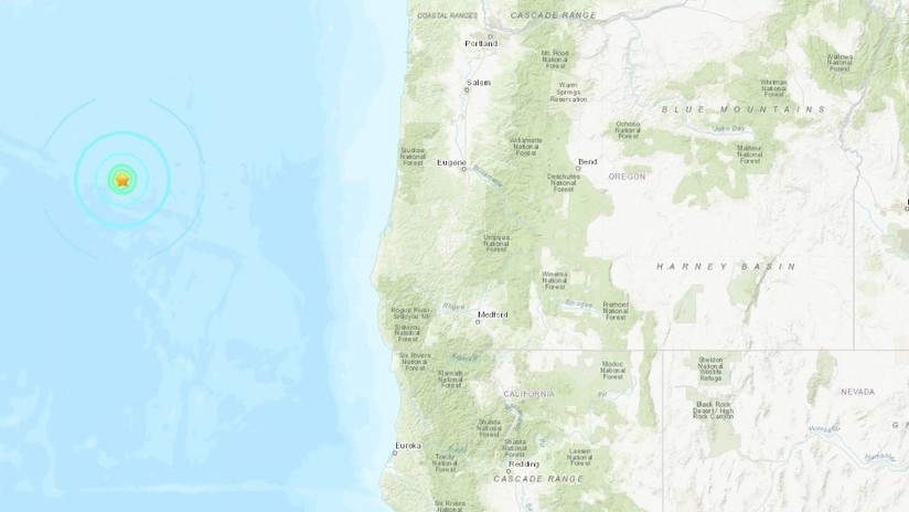 Cuatro sismos seguidos se producen cerca de la costa de Oregón