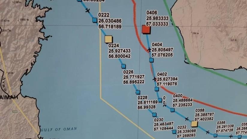 Irán publica un mapa detallado con la ruta y el punto de derribo del dron de EE.UU.