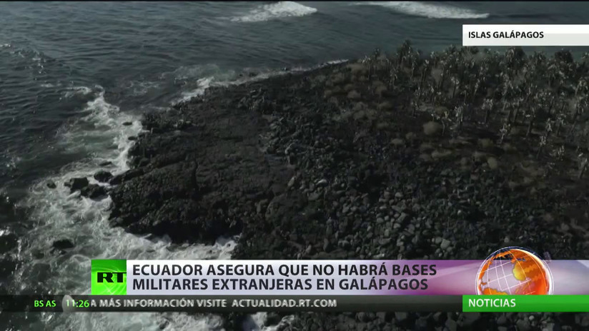 Ecuador asegura que no habrá bases militares extranjeras en las Islas Galápagos