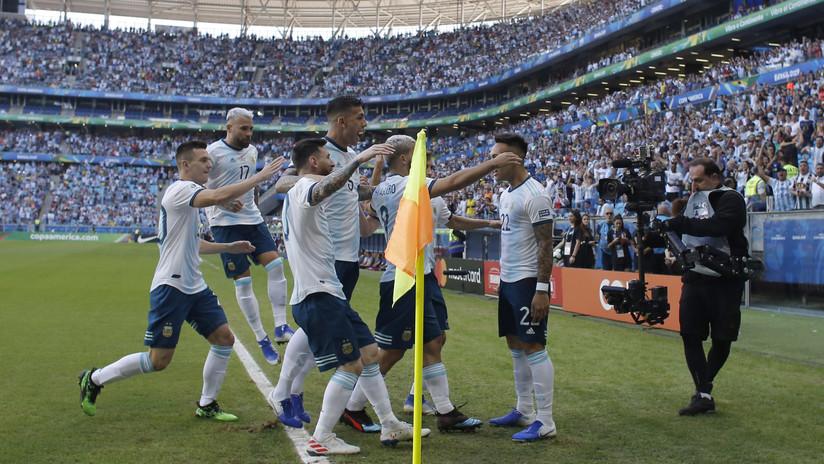 Argentina vence a Catar y asegura su clasificación a cuartos de final de la Copa América