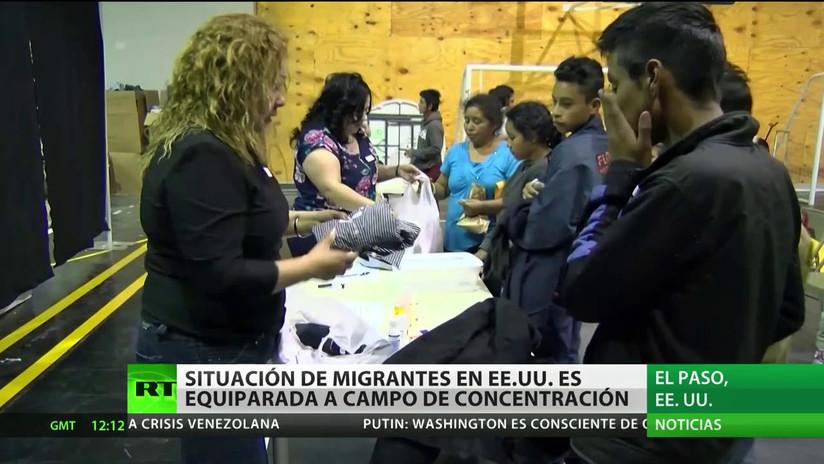 """Congresista de EE.UU. equipara la situación de los migrantes con """"campos de concentración"""""""