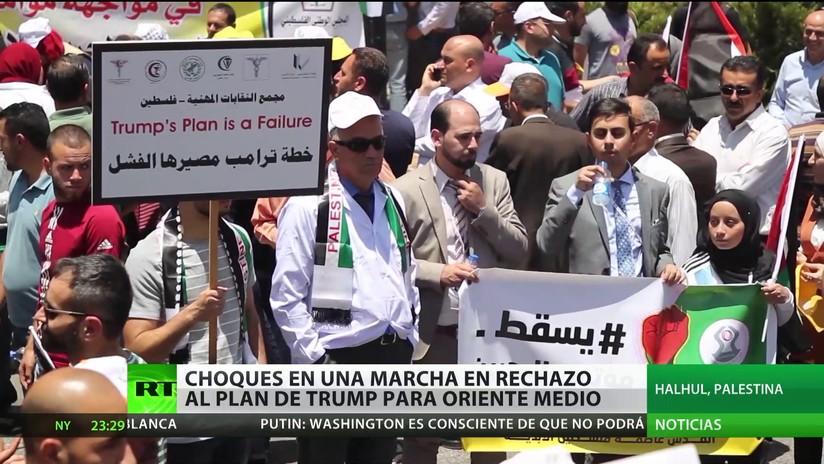 Palestina: Protestas contra el plan de Trump para Oriente Medio