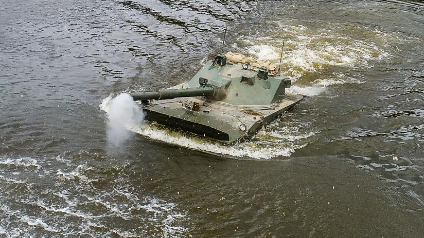VIDEO: Rusia presenta un nuevo tanque anfibio ligero