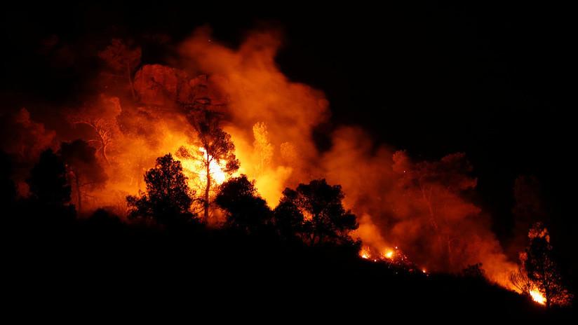 Un voraz incendio afecta a Cataluña en medio de la ola de calor que sufre España