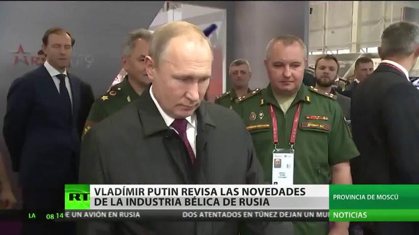 Muestras del futurístico arsenal ruso se exponen en la feria militar Army 2019