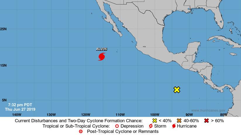 Se forma el primer huracán de la temporada 2019 en el este del Pacífico