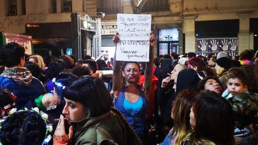 La cuarta marcha contra los travesticidios en Argentina llenó las calles de política (FOTOS)