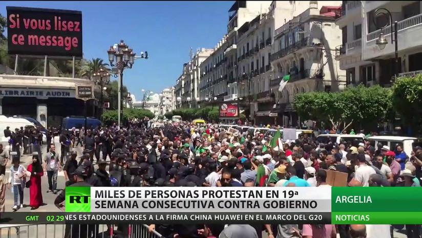 Se cumplen 19 semanas consecutivas de protestas contra el Gobierno en Argelia