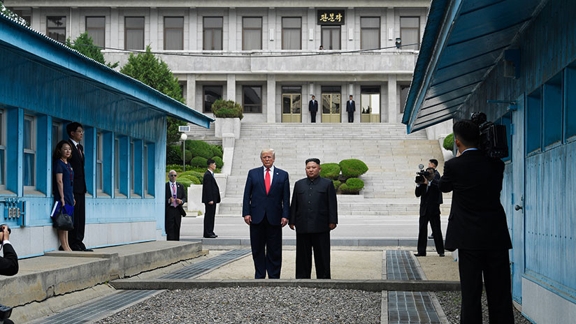 Momento histórico: Trump, primer presidente de EE.UU. que entra en Corea del Norte (VIDEO)