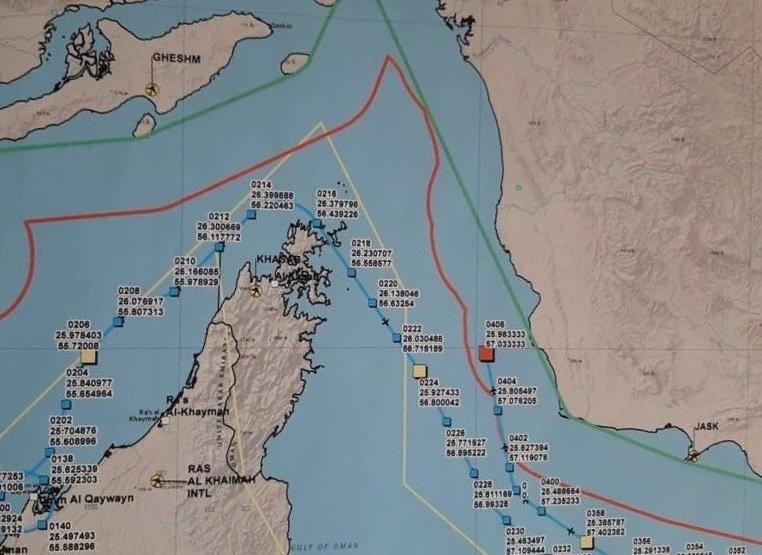 Estrecho De Ormuz Mapa.Iran Publica Un Mapa Detallado Con La Ruta Y El Punto De