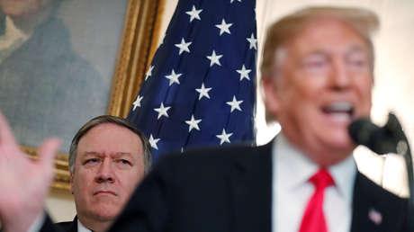 El secretario de Estado de EE.UU., Mike Pompeo, y el presidente estadounidense Donald Trump.