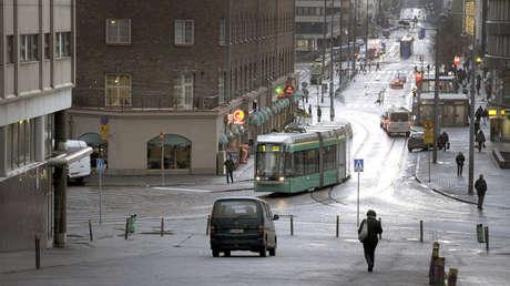 Vista de una calle en el distrito de Kallio en Helsinki.
