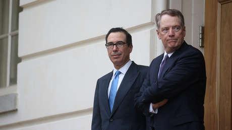 El representante de Comercio de EE.UU., Robert Lighthizer, y el secretario del Tesoro, Steven Mnuchin, en Washington, el 10 de mayo de 2019