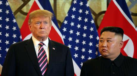 Donald Trump y Kim Jong-un en Hanói, Vietnam, el 27 de febrero de 2019