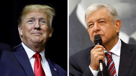 El presidente de EE.UU., Donald Trump, y su homólogo mexicano, Andrés Manuel López Obrador