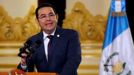 El presidente de Guatemala, Jimmy Morales, en Ciudad de Guatemala, Guatemala, 6 de septiembre de 2018.