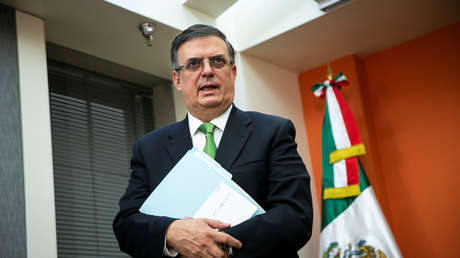 El canciller mexicano, Marcelo Ebrard, en Washington, EE.UU., el 4 de junio de 2019