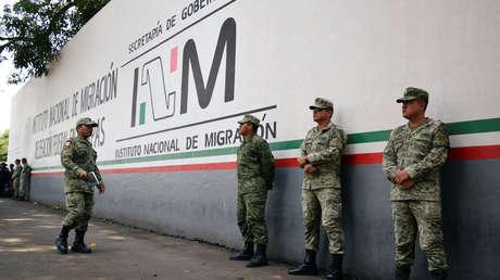 Soldados asignados a la recién creada Guardia Nacional en Tapachula, México. 23 de mayo de 2019.