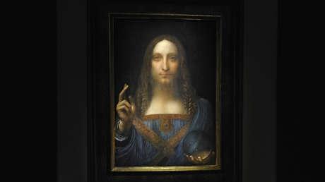 El 'Salvator Mundi' de Leonardo da Vinci en la casa de subastas Christie's de Nueva York, EE. UU., el 15 de noviembre de 2017.