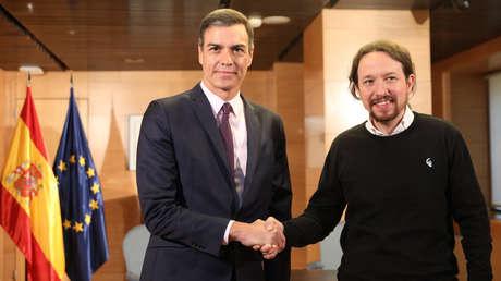 El presidente del Gobierno en funciones, Pedro Sánchez, con el líder de Unidas Podemos, Pablo Iglesias, Madrid, 11 de junio de 2019.