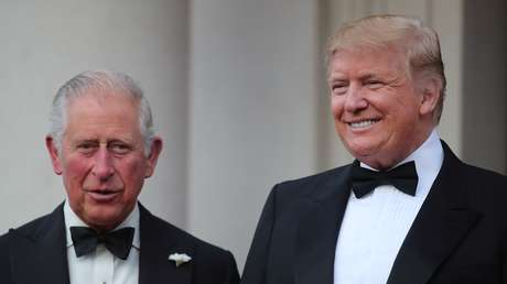 El príncipe Carlos de Gales y el presidente estadounidense Donald Trump, el 4 de junio de 2019.