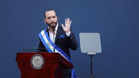 El nuevo presidente de El Salvador, Nayib Bukele, durante su toma de posesión en San Salvador, el 1 de junio de 2019.