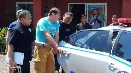 El arresto de Francesco Galdelli, Pattaya, Tailandia, 15 de junio de 2019.