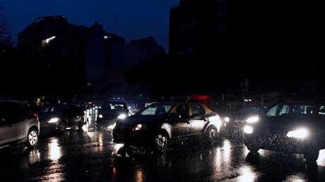 La Ciudad de Buenos Aires está a oscuras durante el apagón del 16 de junio del 2019.