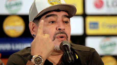 El exentrenador de Dorados, Diego Maradona