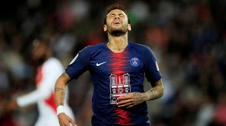 El futbolista brasileño del PSG Neymar Jr., París 21 de abril de 2019.