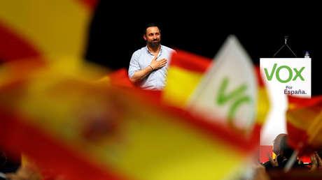 Santiago Abascal, líder de Vox, en un acto en Sevilla, España, 24 de abril de 2019.