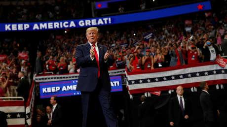 El presidente de EE.UU., Donald Trump, en un mitin en Orlando (Florida) el 18 de junio de 2019.