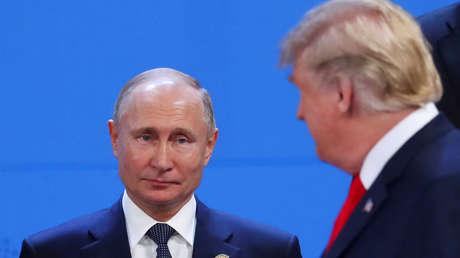Vladímir Putin y Donald Trump en la cumbre del G20 en Buenos Aires, 30 de noviembre de 2018.