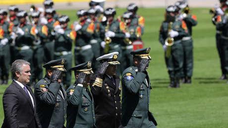 El presidente de Colombia, Ivan Duque Márquez, durante una ceremonía en una escuela militar en Bogotá, el 17 de diciembre de 2018.