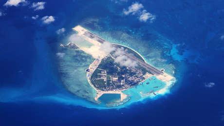 Vista aérea de la isla Woody, en el mar de la China Meridional.