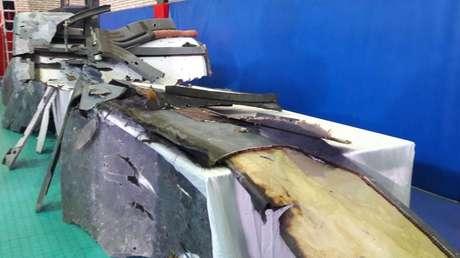 Los restos del dron RQ-4 Global Hawk derribado por Irán