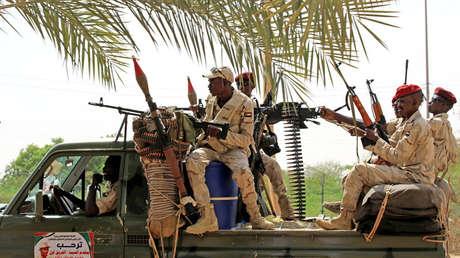 Fuerzas de Apoyo Rápido en Jartum, Sudán, 18 de junio de 2019.