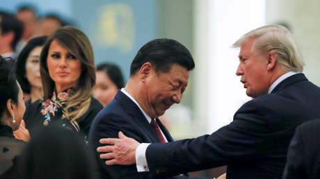Xi Jinping y Donald Trump durante su encuentro en Pekín, 9 de noviembre de 2017.