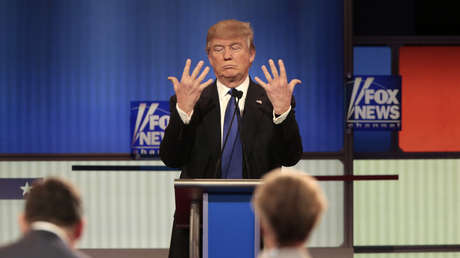 Donald Trump en un debate moderado por Fox News en marzo de 2016, entonces como candidato presidencial.