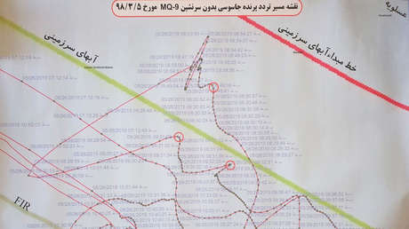 La trayectoria de un dron estadounidense MQ-9 Reaper