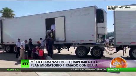 México avanza en el cumplimiento del plan migratorio firmado con EE.UU.