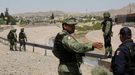 Soldados mexicanos en la frontera con EE.UU., a fin de controlar el flujo migratorio ilegal a aquel país, en una imagen del 16 de junio de 2019.