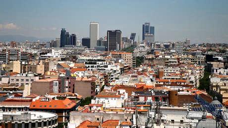 Vista aérea de Madrid (España) captada el 7 de Junio de 2016