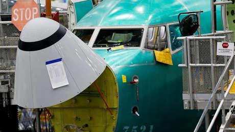 Un avión Boeing 737 Max en la fábrica de Boeing en Renton, EE.UU., el 27 de marzo de 2019.