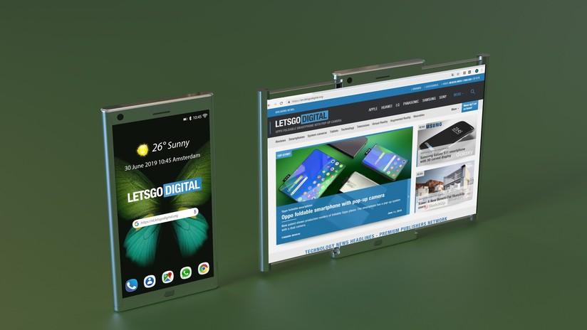 FOTOS: Samsung patenta un 'smartphone' con pantalla capaz de ensancharse hasta el tamaño de una tableta